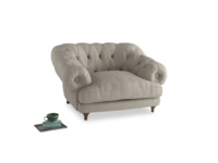 Bagsie Love Seat in Thatch house fabric