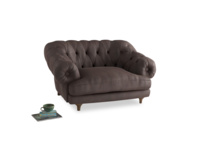 Bagsie Love Seat in Dark Chocolate beaten leather