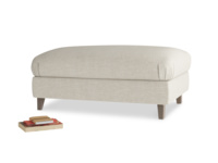 Rectangle Legsie Footstool in Thatch house fabric
