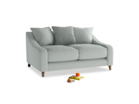 Small Oscar Sofa in French blue brushed cotton