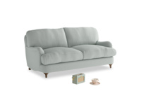 Small Jonesy Sofa in French blue brushed cotton