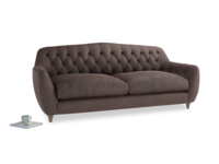 Large Butterbump Sofa in Dark Chocolate beaten leather