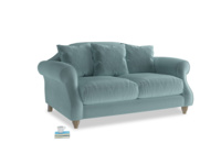 Small Sloucher Sofa in Lagoon clever velvet