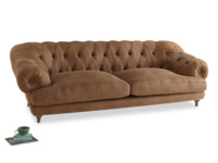 Extra large Bagsie Sofa in Walnut beaten leather