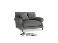 Crumpet Love seat in French Grey brushed cotton