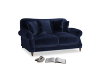 Small Crumpet Sofa in Midnight plush velvet