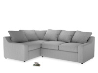 Large Left Hand Cloud Corner Sofa in Cobble house fabric