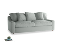 Large Cloud Sofa in French blue brushed cotton