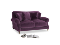 Small Crumpet Sofa in Grape clever velvet