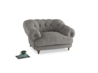 Bagsie Love Seat in Wolf brushed cotton