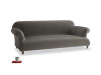 Large Soufflé Sofa in Slate clever velvet