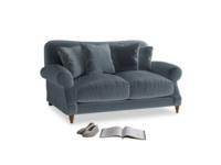 Small Crumpet Sofa in Mermaid plush velvet