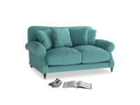 Small Crumpet Sofa in Peacock brushed cotton