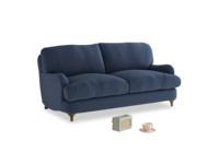 Small Jonesy Sofa in Navy blue brushed cotton