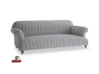Large Soufflé Sofa in Brittany Blue french stripe