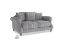 Small Sloucher Sofa in Brittany Blue french stripe