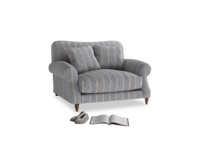Crumpet Love seat in Brittany Blue french stripe