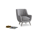 Berlin Armchair in Brittany Blue french stripe