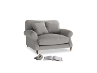 Crumpet Love seat in Wolf brushed cotton