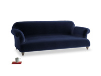 Large Soufflé Sofa in Midnight plush velvet