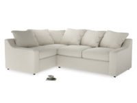 Large Left Hand Cloud Corner Sofa in Oat brushed cotton