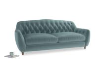 Large Butterbump Sofa in Lagoon clever velvet