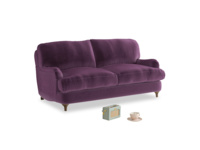 Small Jonesy Sofa in Grape clever velvet