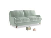 Small Jonesy Sofa in Mint clever velvet