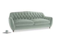 Large Butterbump Sofa in Mint clever velvet