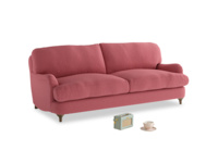 Medium Jonesy Sofa in Raspberry brushed cotton