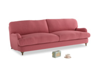 Large Jonesy Sofa in Raspberry brushed cotton