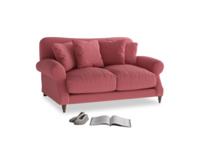 Small Crumpet Sofa in Raspberry brushed cotton