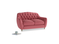 Small Butterbump Sofa in Raspberry brushed cotton
