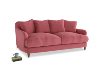 Medium Achilles Sofa in Raspberry brushed cotton