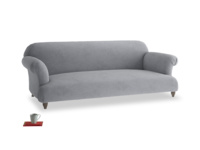 Large Soufflé Sofa in Dove grey wool