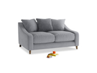 Small Oscar Sofa in Dove grey wool