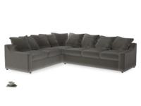 Xl Left Hand Cloud Corner Sofa in Slate clever velvet