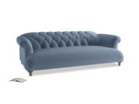 Large Dixie Sofa in Winter Sky clever velvet