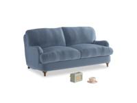 Small Jonesy Sofa in Winter Sky clever velvet
