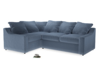 Large Left Hand Cloud Corner Sofa in Winter Sky clever velvet