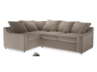 Large Left Hand Cloud Corner Sofa in Fawn clever velvet