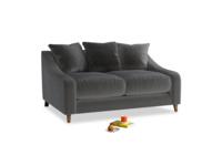 Small Oscar Sofa in Steel clever velvet