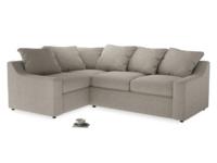 Large Left Hand Cloud Corner Sofa in Birch wool