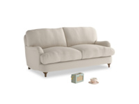 Small Jonesy Sofa in Buff brushed cotton