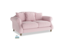 Small Sloucher Sofa in Pale Rose vintage linen