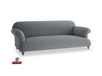 Large Soufflé Sofa in Dusk vintage linen