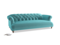 Large Dixie Sofa in Belize clever velvet