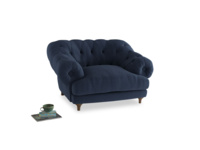 Bagsie Love Seat in Navy blue brushed cotton