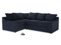 Large Left Hand Cloud Corner Sofa in Indigo vintage linen