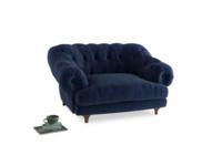 Bagsie Love Seat in Ink Blue wool